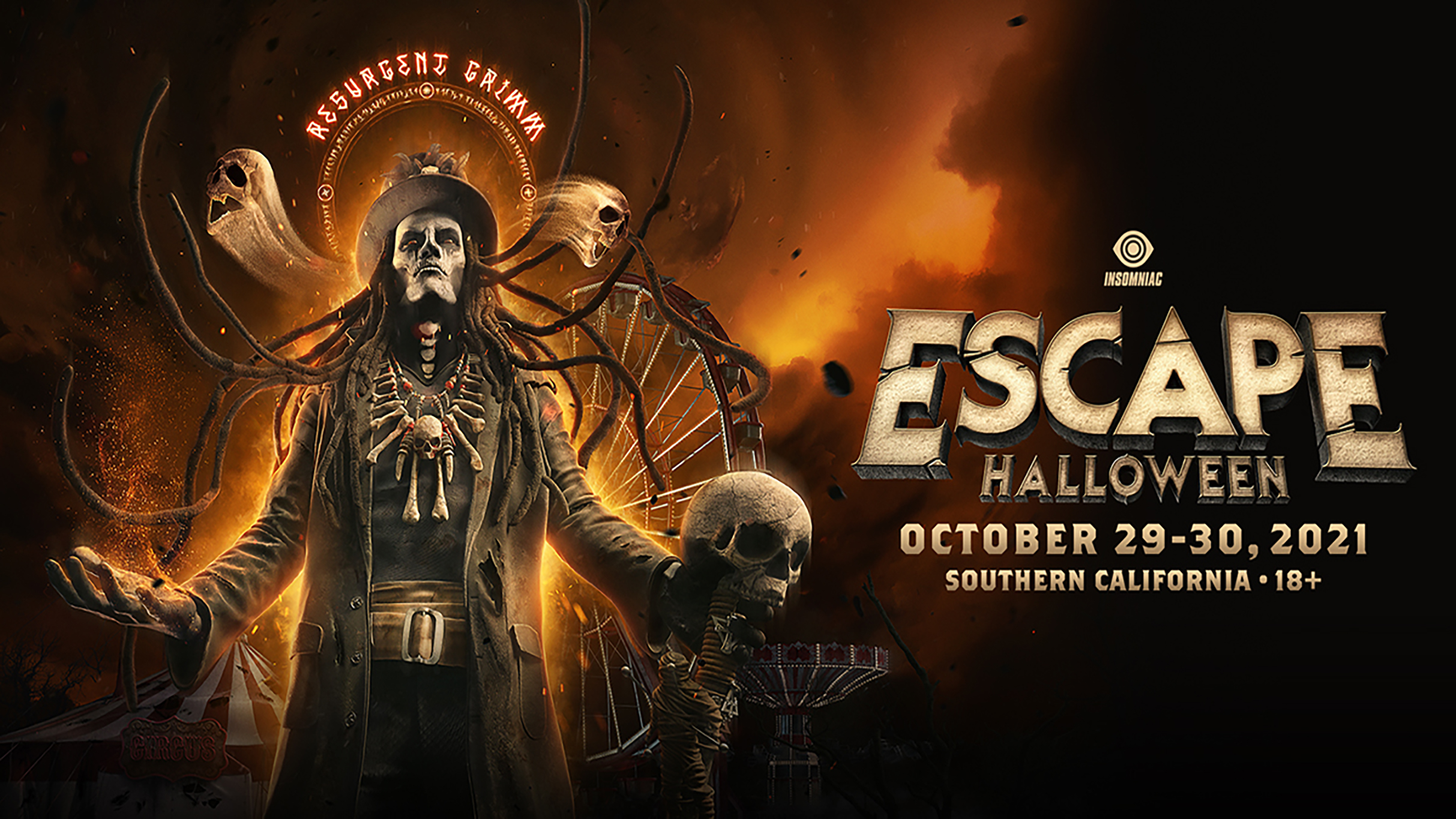 ESCAPE HALLOWEEN | OCTOBER 29-30, 2021 | TICKETS ON SALE NOW